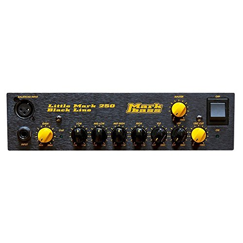 (Markbass Blackline Little Mark 250 250W Bass Amp Head Black)