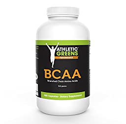 Athletic Greens - Monster Value Pack - Pure Branch Chain Amino Acids (BCAA) 312 grams per bottle, 480 Capsules
