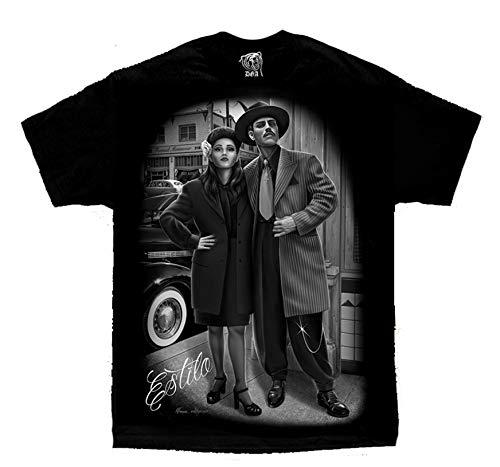 Pachuco Zoot Suits - Zoot Suit Pachuco Lowrider Chicano Art Estilo David Gonzales DGA T Shirt X-Large Black