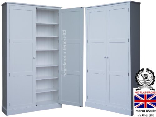 100 solid wood storage cupboard 7ft x 4ft white painted pantry rh amazon co uk Paper Art Storage Cabinet Storage Cabinets for Flat Supplies