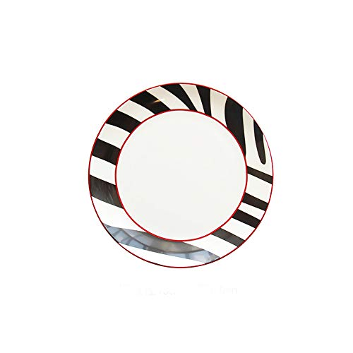 (Mary Paxton Ceramic Plate,Zebra Porcelain Dish 6