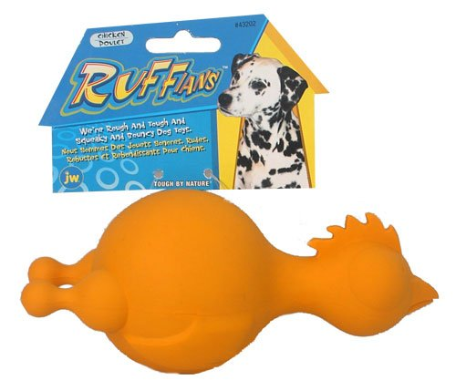 JW Ruffians Chicken Assorted Colors Size:Medium PatternName:Pack of 2