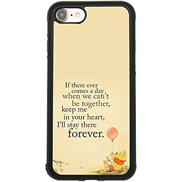 Amazon.com: Winnie The Pooh Quote Art Case for iPhone 7, iPhone 8 ...