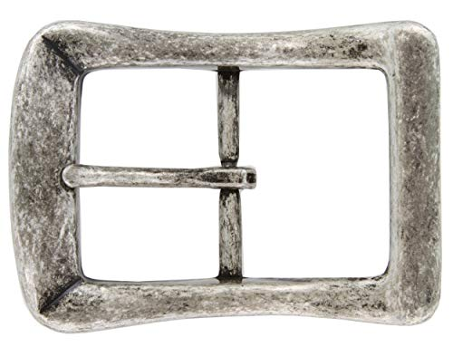 Curved Square Single Prong Center Bar Belt Buckle 1-1/2