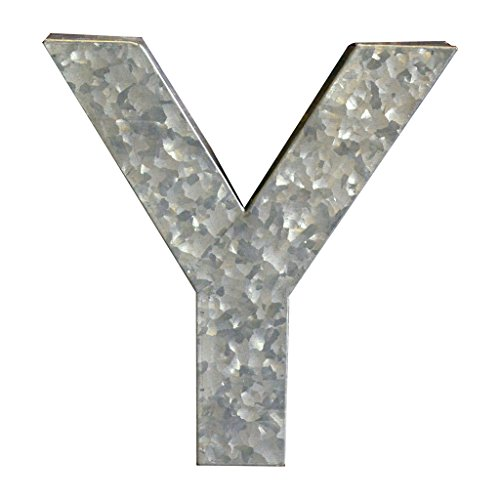 Modelli Creations Alphabet Letter Y Wall Decor, Zinc by Modelli Creations