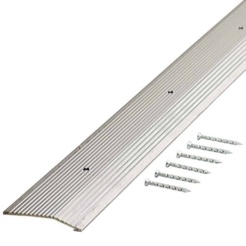 M-D Building Products 78071 Fluted 1-3/8-Inch by 36-Inch Carpet Trim, Silver (Carpet Bar Silver Fluted)