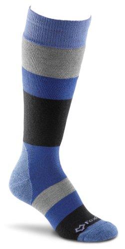 FoxRiver Women's Polar Stripe Knee High, Lavender, Medium (Fox Socks Wool River)