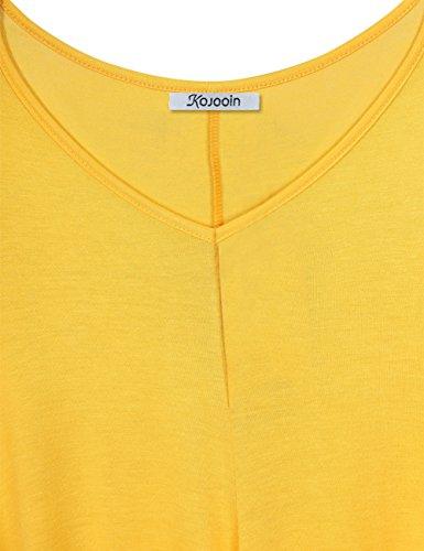 en Blouse Langarm Casual Aprikose de Mesdames Taille Longshirt Shirt Tunique Plus Soie T Casual Mousseline KoJooin Top Asymtrique Oversize FY0n1SSg