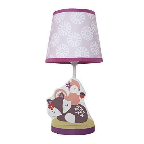 Bedtime Originals Lavender Woods Lamp with Shade and Bulb (Wood Shades Light)