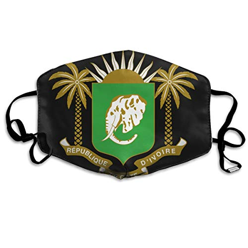 (SDQQ6 Coat of Arms of Ivory Coast Mouth Mask Unisex Printed Fashion Face Mask Anti-dust Masks)