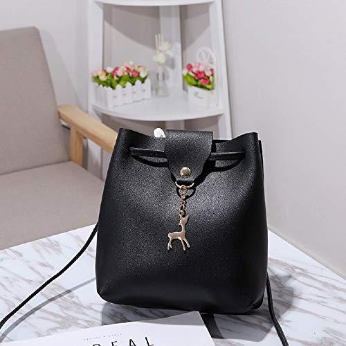 (Designer Women Evening Bag Shoulder Bags PU Leather Luxury Women Handbags Casual Clutch Messenger Bag Totes for Women (Black))