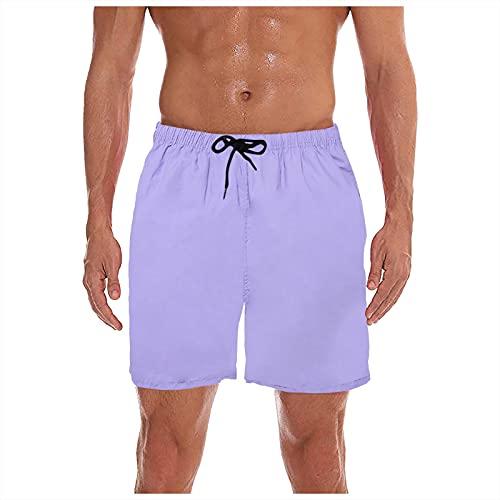 YHIIen Zwembroek voor heren, zwemshorts met mesh zwembroek voor heren, sneldrogend, boardshorts, zomer, sport, shorts…