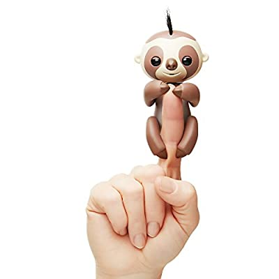 WowWee Fingerlings Interactive Baby Sloth Puppet, Kingsley (Brown) from WowWee Import