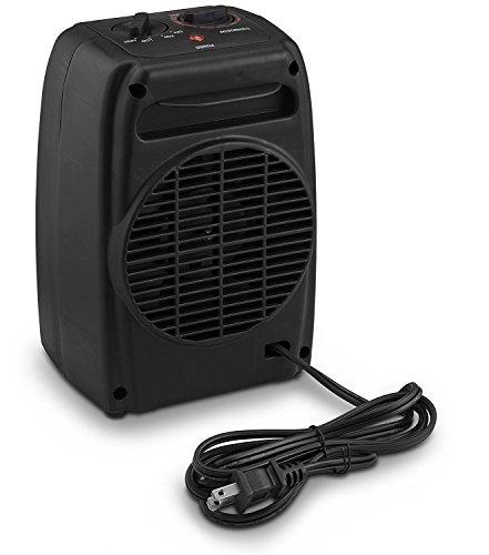 Comfort Zone Portable Lightweight Ceramic Heater Black 2