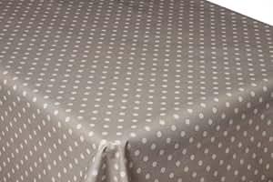 Décorline  - 1710396, Mantel Pvc Rectangular , 140 X 240 Cm , Lollypop , Decorline Estampado , Gris/Blanco