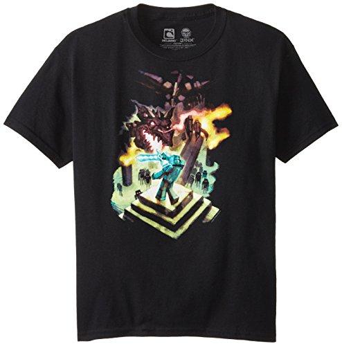 Minecraft Boy's Ender Dragon Youth T-Shirt, Black, Medium