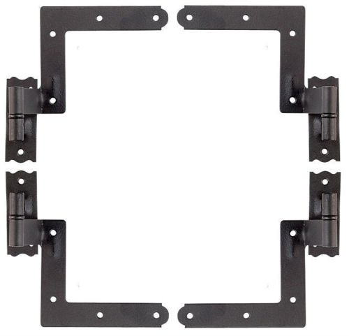 New Black, Set of 4 New York Shutter Hinges Exterior Siding - The Town Center Jacksonville