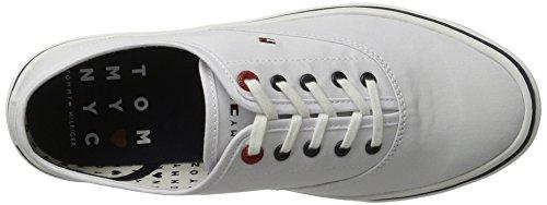 Tommy Hilfiger de Sm M1285ara 3d3, Zapatillas para Mujer Blanco (White 100)