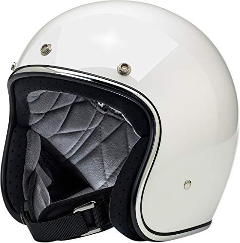 Biltwell Bonanza Solid Helmet Gloss White (White, Small)
