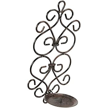 this item fa decors tuscan scroll work metal candle wall sconces
