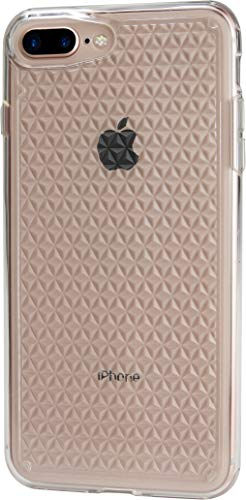 (Silk iPhone 7 Plus/8 Plus Clear Case - PUREVIEW Protective Slim Grip Cover - Queen of Diamonds - Crystal Clear)