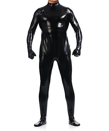 Ensnovo-Unisex-Shiny-Metallic-Body-Suits-Wet-Look-Spandex-Costume-Unitard