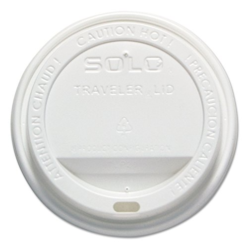 Hot Cup Traveler Lids, 300/CT, White, Sold as 1 Carton