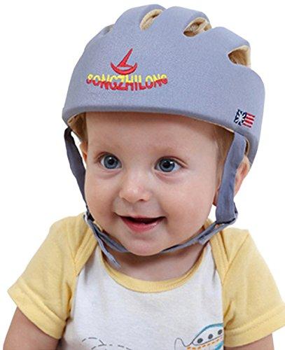 HI9 Infant Protective Hat Baby Toddler Safety Adjustable Helmet Cap Protection head for Walking Harnesses (Grey)