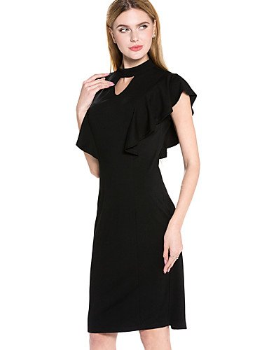 Amazon.com : JIALELE Dress Vintage, Dress Plus Size, Dress 12 Womens Black Dress, Round Neck Knee-Length Micro-Elastic Medium : Sports & Outdoors