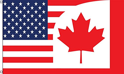 - Best Flags USA/Canada Combo Polyester Outdoor Flag, 3 by 5-Feet