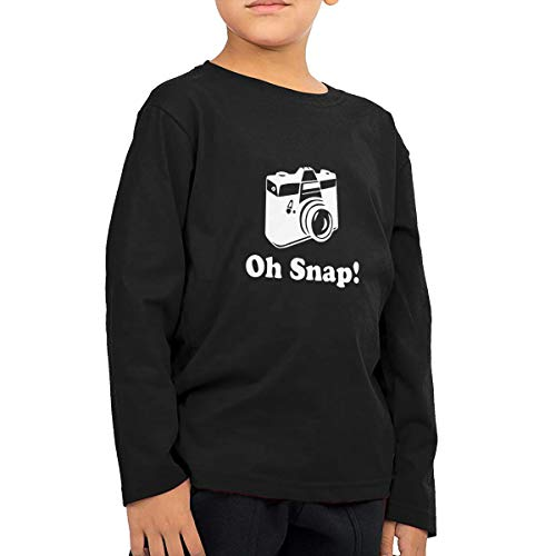 Price comparison product image Oh Snap Camera Toddler Kids Baby Girls T-Shirt Long Sleeve Crew Neck T-Shirts Soft Tee Shirt
