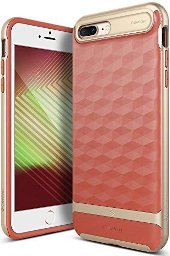 best service 67d31 e568c Caseology Parallax for iPhone 8 Plus Case (2017) / iPhone 7 Plus Case  (2016) - Award Winning Design - Coral Pink