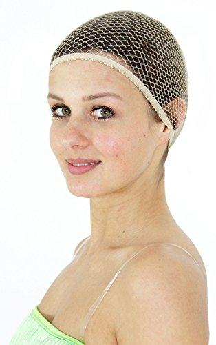 Foxxeo 35093 | Deluxe Haarnetz für Damen und Herren Haarhaube für Perücke Perücken zum Karneval Kostüm