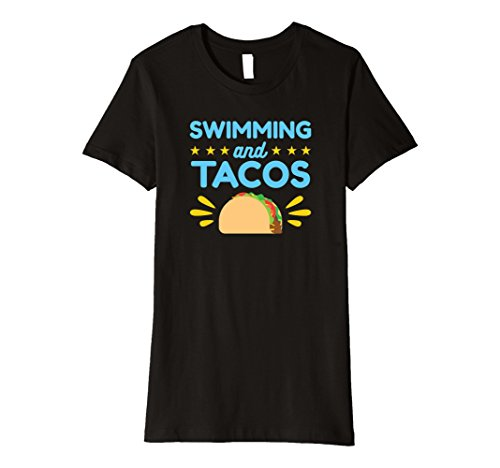 Womens Swimming And Tacos Tee Shirt Swimmer Gifts Medium - Black Female Swimmers