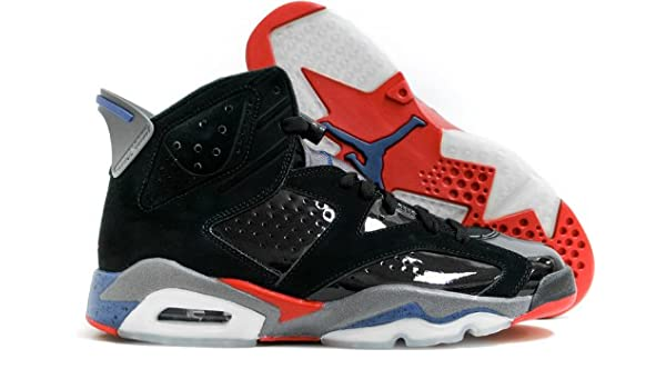 release date 95f46 db622 Amazon.com   Jordan Nike Air 6 Retro Detroit Pistons VI Mens Basketball  Shoes 384664-001   Shoes