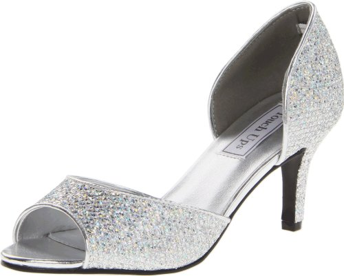 Touch Ups Women's Jolee Pump,Silver Glitter,8.5 M US (Jolees Spring)