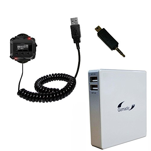 Gomadic Unique Portable Rechargeable Battery Pack designed for the Garmin VIRB 360 - High Capacity charger that fits in your pocket