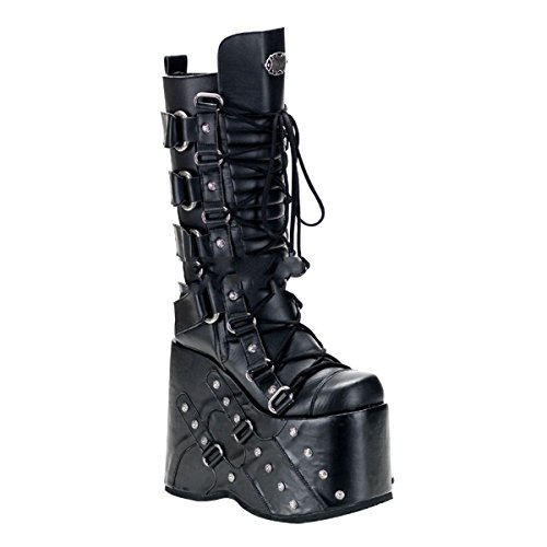Sapatos 46 Demonia 318 Planalto 36 Industrial Empilhar Punk Gótico botas Mega OvOB8qP