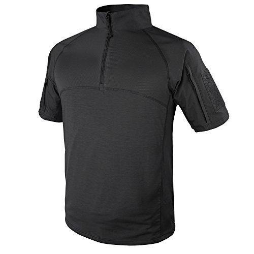 Condor Outdoor Tactical Short Sleeve Combat Shirt (Large, Black)