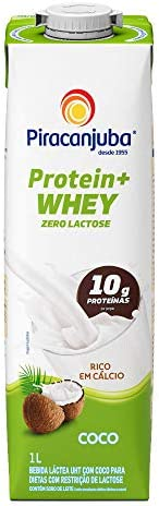 Piracanjuba Protein+ Whey Zero Lactose Sabor Coco 1L