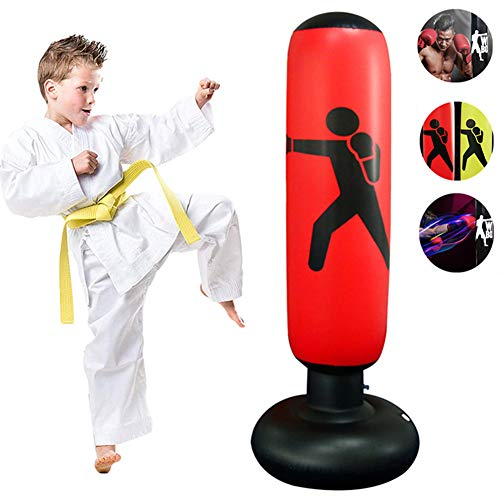 xivqiuny Inflatable Fitness Punching Bag,Free-Standing Fitness Target Stand...