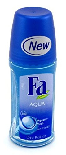 24 Deodorant Fa Hour - Fa Deodorant 1.7oz Roll-On Aqua (6 Pack)