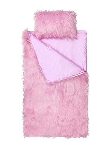Limited Too Pink Fuzzy 2-Piece Slumber Bag and Mini Pillow Set