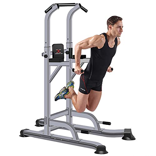 MAXSTRENGTH Multi gym pull up station power toren pull up en dip station workout toren dip bars dip station Verticale…