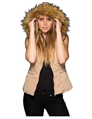 la-coalition-womens-fur-lined-puffer-vest-jacket-w-hoodie-black-or-khaki-large-khaki