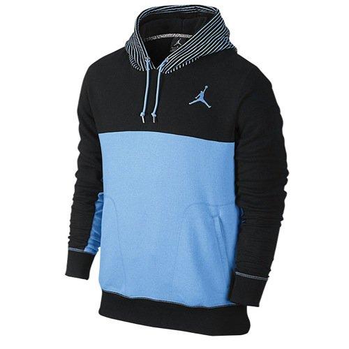 Jordan Men's Nike Jumpman Flight Classic Pullover Hoodie-Blue/Black-Medium
