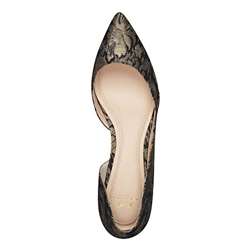 Marc Fisher LTD Women's Sunny4 Pointed Toe Flat Gold Multi Fabric clearance view wckgSqxLXi
