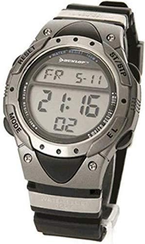 Dunlop DUN-136-G04 Reloj digital para hombre, de cuarzo con correa azul de goma: Amazon.es: Relojes