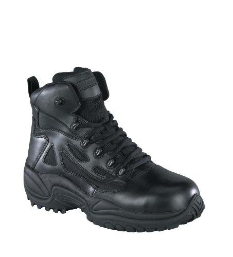 Reebok Women's Stealth 6'' Lace-Up Side Zip Work Boot Composite Toe Black 11.5 EE US by Reebok