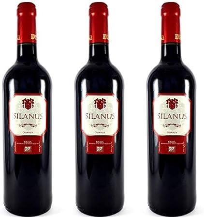 Silanus Vino D.O Rioja Crianza - 3 botellas x 750ml - total: 2250 ml
